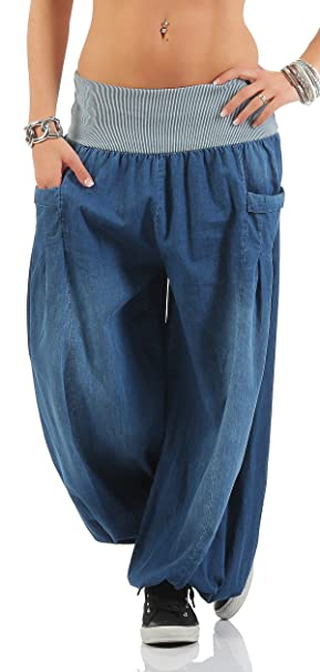 cleostyle Moderna Pantalones Bombachos Pantalón Aladino ...