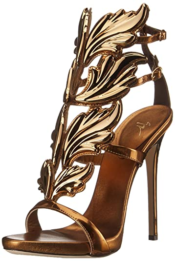 9d1ccde93dd Amazon.com  Giuseppe Zanotti Women s Gold Leaf Strappy Dress Sandal ...