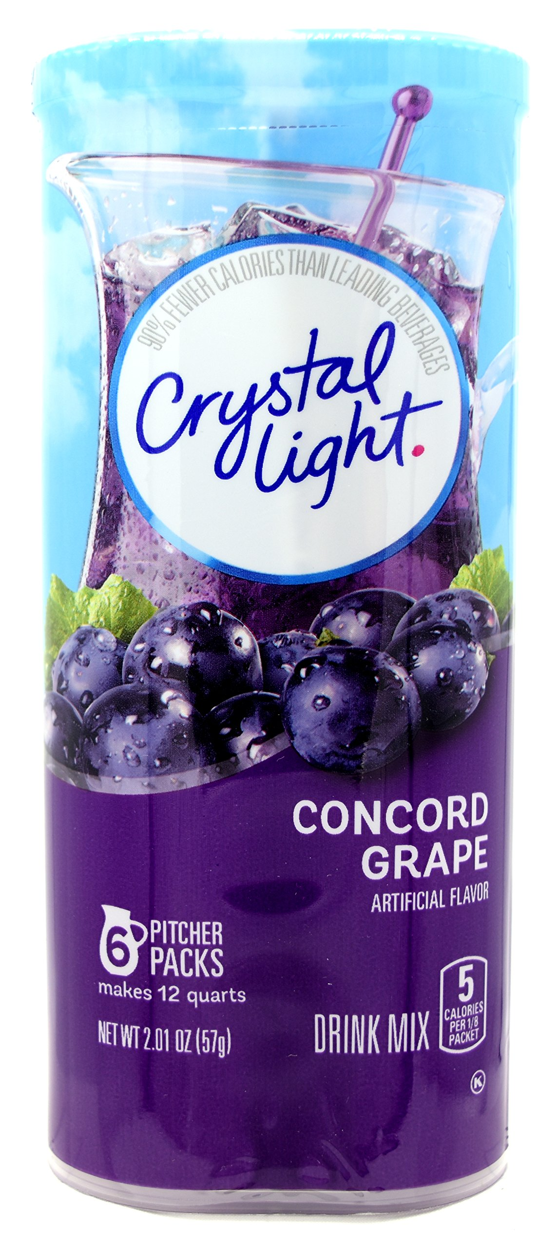 Crystal Light Concord Grape, 12-Quart Canister Canister (Pack Of 5)