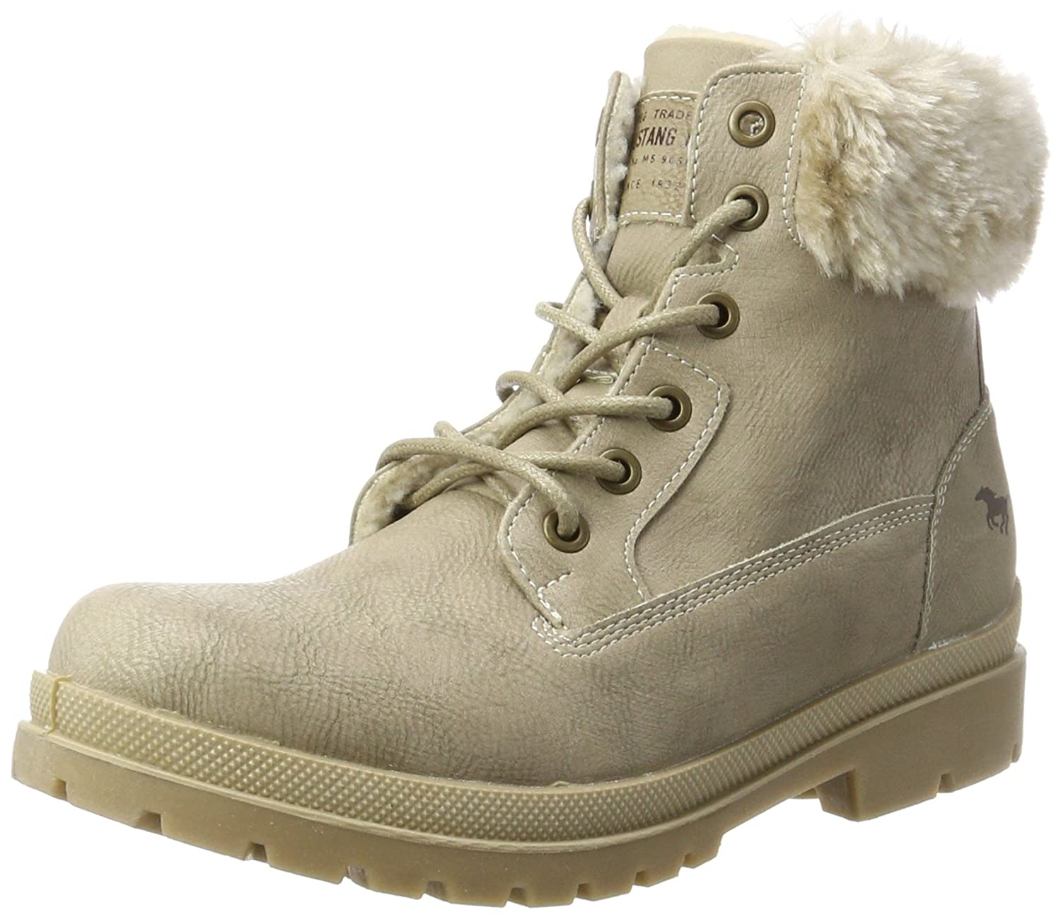 Mustang 1207-607, Bottes Femme, Gris Bottes Blanc Cassé Mustang Blanc (Ivory) 8807983 - latesttechnology.space