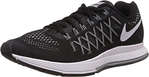 emoción Red de comunicacion oleada  Nike Men's Air Zoom Pegasus 32 Fitness Shoes, Black (Black/White-Pure  Platinum), 6 UK 39 EU: Amazon.co.uk: Shoes & Bags