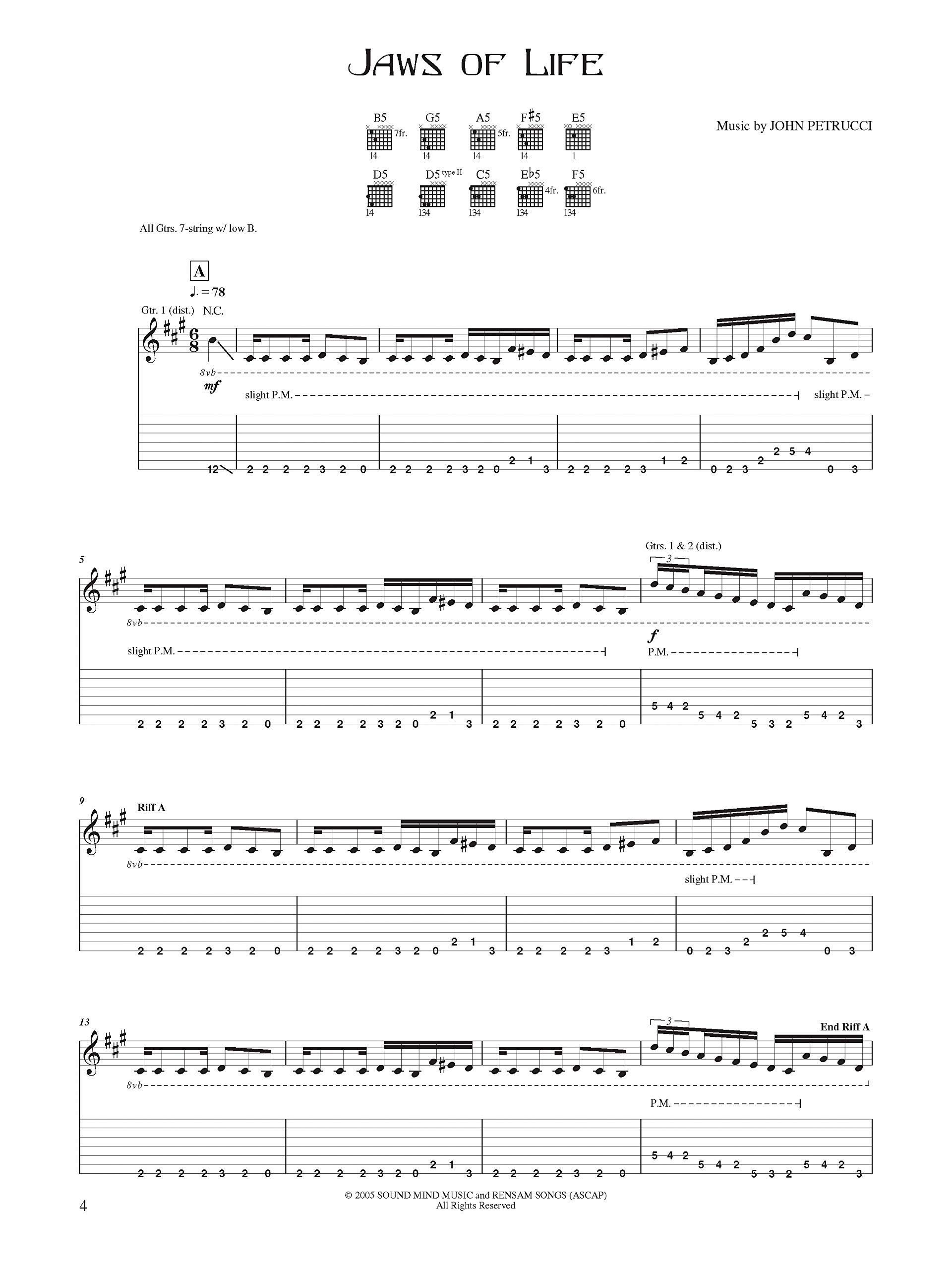 John Petrucci -- Suspended Animation: Authentic Guitar Tab: Amazon ...