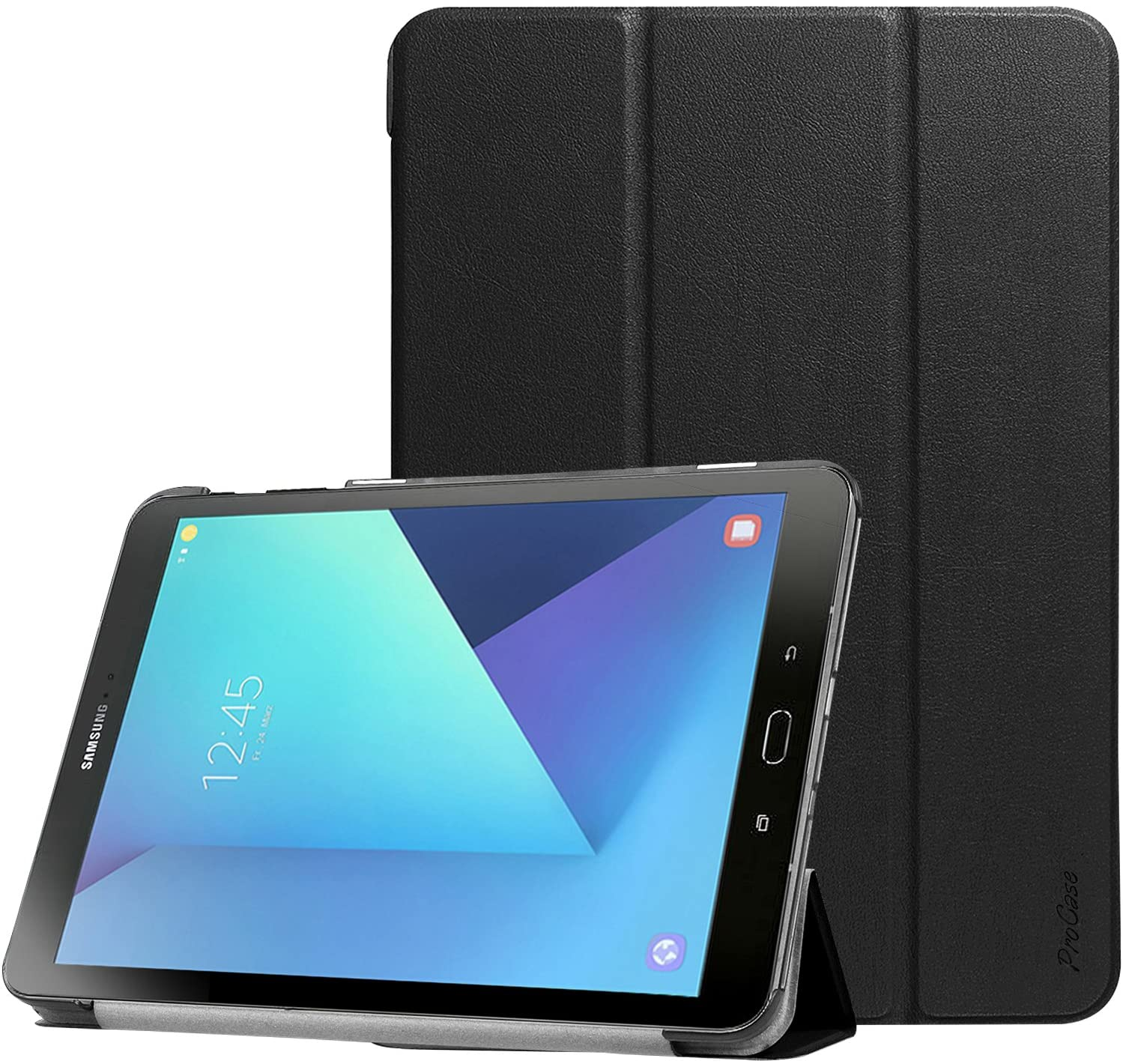 Amazon Com Procase Galaxy Tab S3 9 7 Case Slim Light Smart Cover Stand Hard Shell Case For Galaxy Tab S3 9 7 Inch Tablet Sm T820 T825 T827 Black