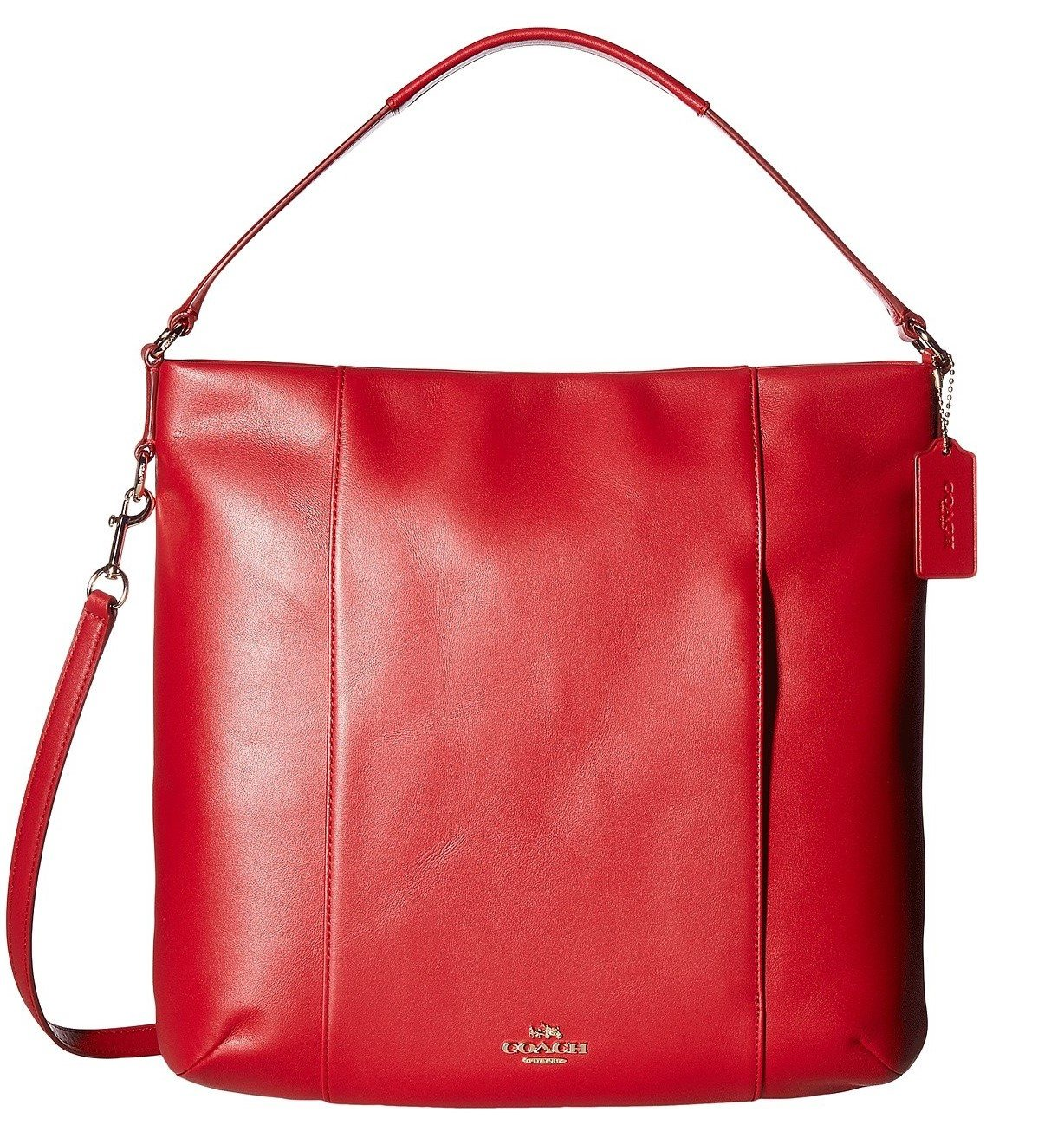 3fa29af13d78 ... store amazon coach womens leather isabelle shoulder bag classic red one  size shoes db505 49a37