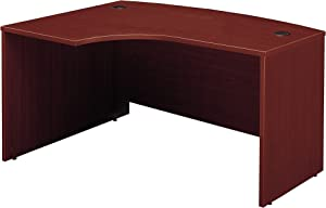 Bush Business Furniture Series C Collection 60W x 43D Left Hand L-Bow Desk Shell in Mahogany