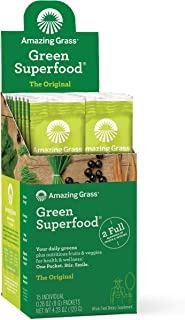 product image for Amazing Grass Green Superfood: Super Greens Powder with Spirulina, Chlorella, Digestive Enzymes & Probiotics, Original, 15 Servings