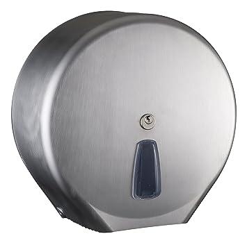 Dispensador Dispensador para papel higiénico (rollo Mini Jumbo Acero inoxidable Mar Plast Inox Satinato: Amazon.es: Hogar