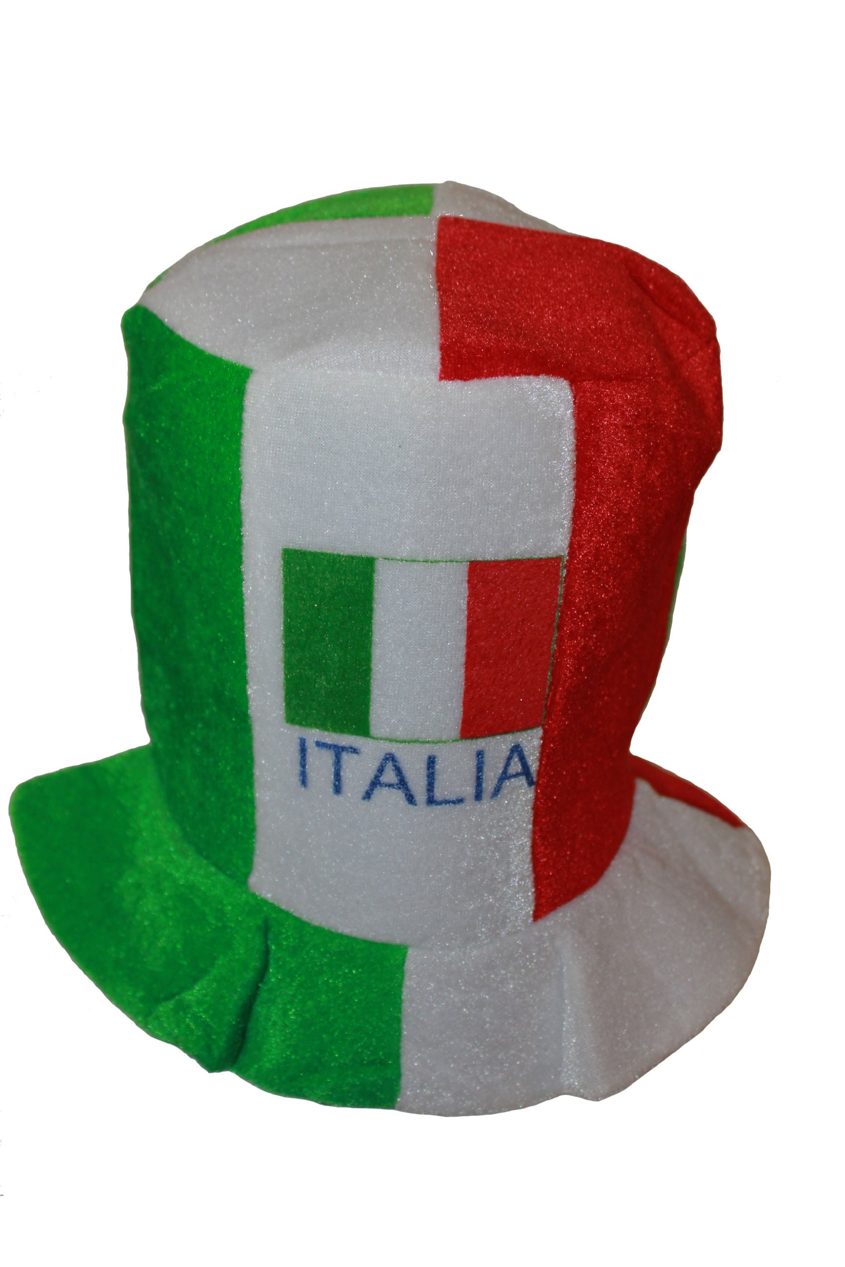 Italia Italy Country Flag Colors .. FIFA Soccer World Cup .. Tall Fool's Style Hat Cap .. .. New