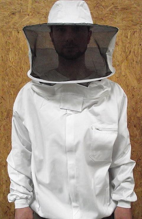 Imkerjacke Terra weiss XXXL m.Haube+Reißverschlüssen,Imkerei,Imker,beekeeping
