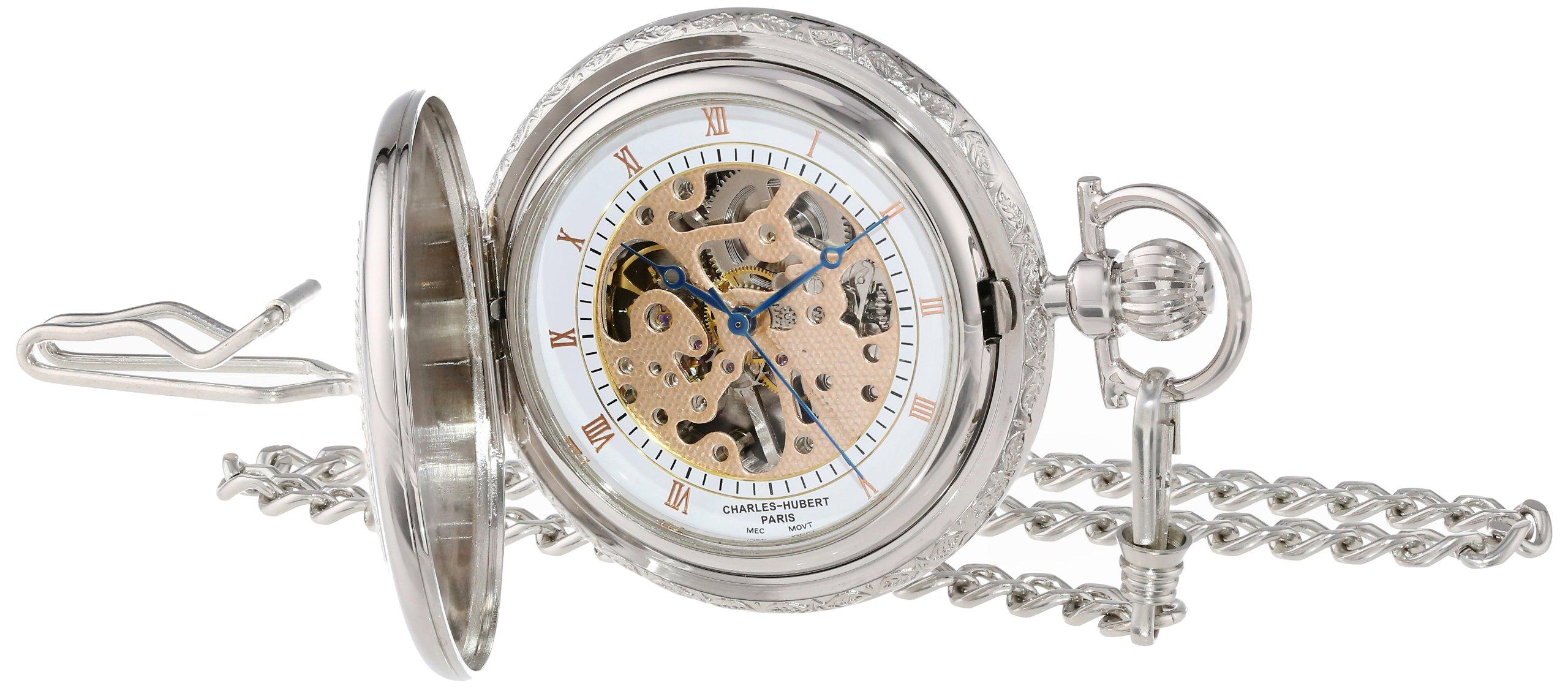 Charles-Hubert, Paris 3805 Two-Tone Mechanical Pocket Watch by Charles-Hubert, Paris