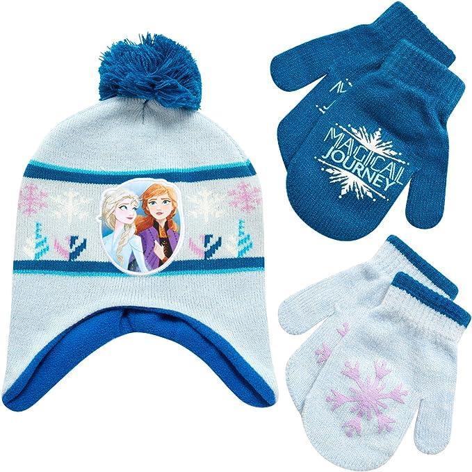 Frozen Elsa hat girls kids children warm Beanie dual layers new
