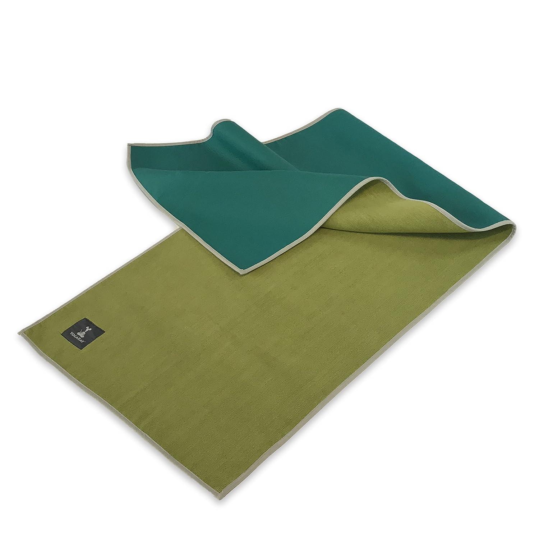 YogaRat Hot ホットヨガタオル 100%マイクロファイバー 600米坪 超厚 ビクラム用 ヨガマットサイズ ハンドサイズタオル B076XRRFFB 3L Gummy Mat Size - Olive Gummy Mat Size - Olive 3L