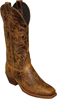 product image for Abilene Women's Cowhide with Fancy Stitching Western Boot Square Toe