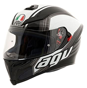 AGV K5 casco de moto Drift negro pistola blanco: Amazon.es ...