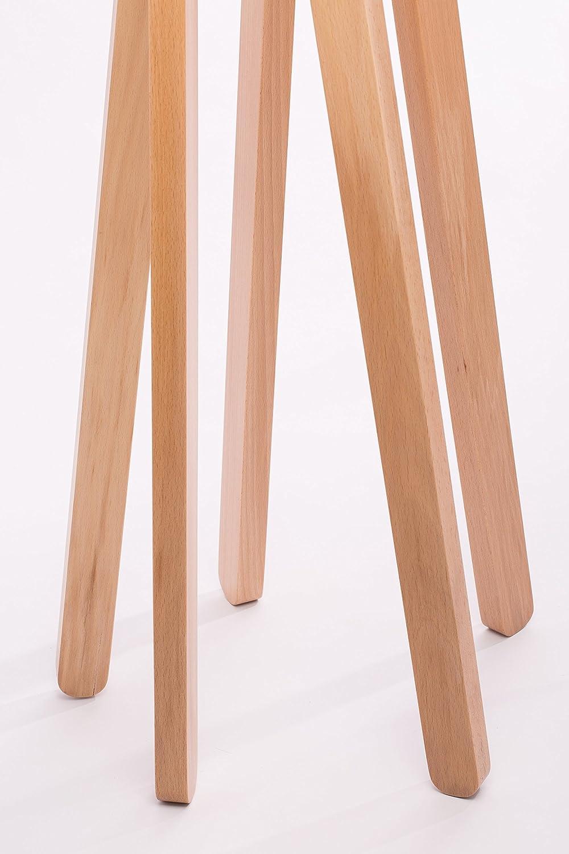 Natur Handgefertigte Leuchte Stehleuchte Hochwertige Design Stehlampe Tripod mit Textil Schirm aus Chintz in grau und Stativ//Gestell aus Holz | H= 160cm Buche