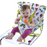 Portable High Chair, Eric Carle Travel High Chair Harness, Converts Any Chair Into Secure Baby Seat, High Chair Cover, Infant Car Seat Cover
