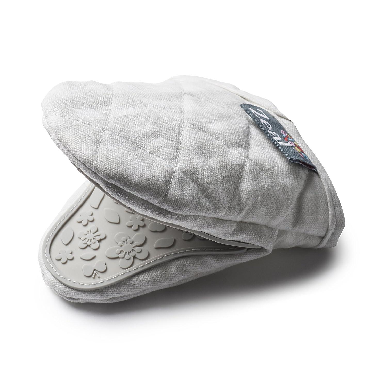 - Zeal Gingham Mini Mitt Pot Holder Cream 17.5 x 13.5 x 2.5 cm Cotton Cream