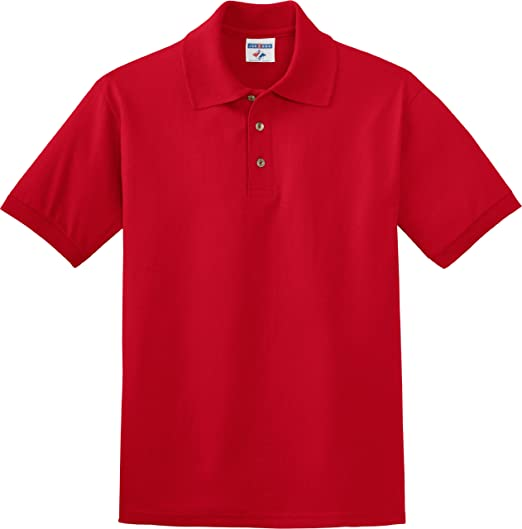 d04724b43b3 Jerzees Men's Preshrunk Double-Needle 3-Buttons Polo Shirt at Amazon ...