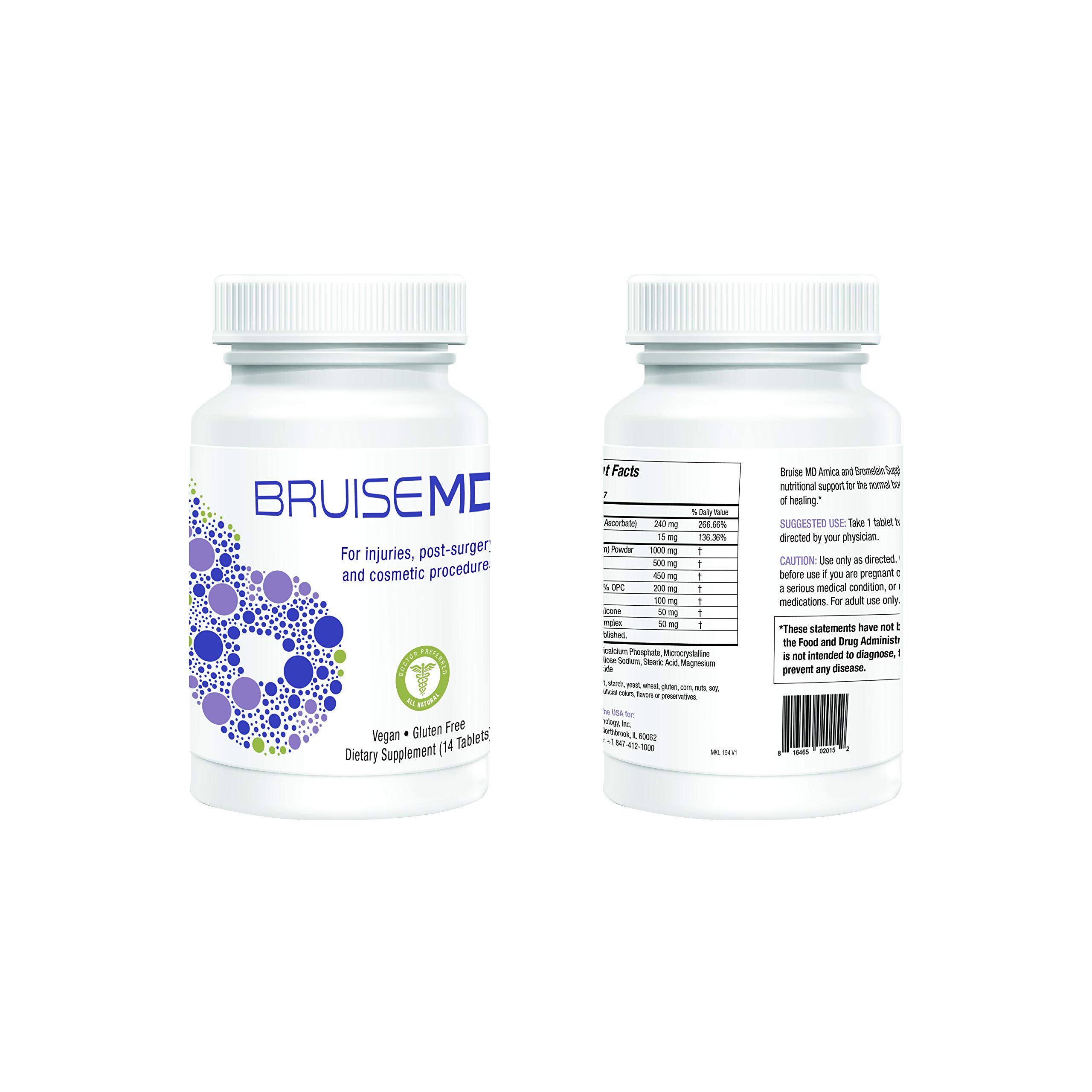 Bruise MD Arnica and Bromelain Supplement