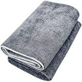 Microfiber Pet Bath Towel, 2-Pack, Ultra-Absorbent, Double Density, Machine Washable for Dogs and Cats