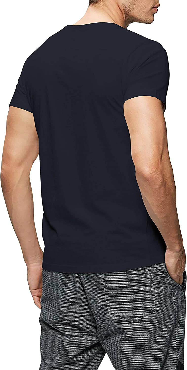 Hat and Beyond Mens Basic Round Neck T-Shirts Solid Short Sleeve Tee