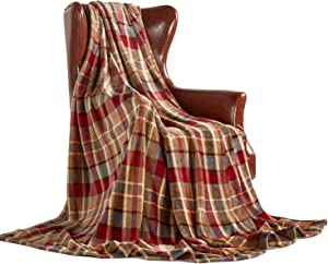 """MERRYLIFE Throw Blanket Plaid Sherpa 