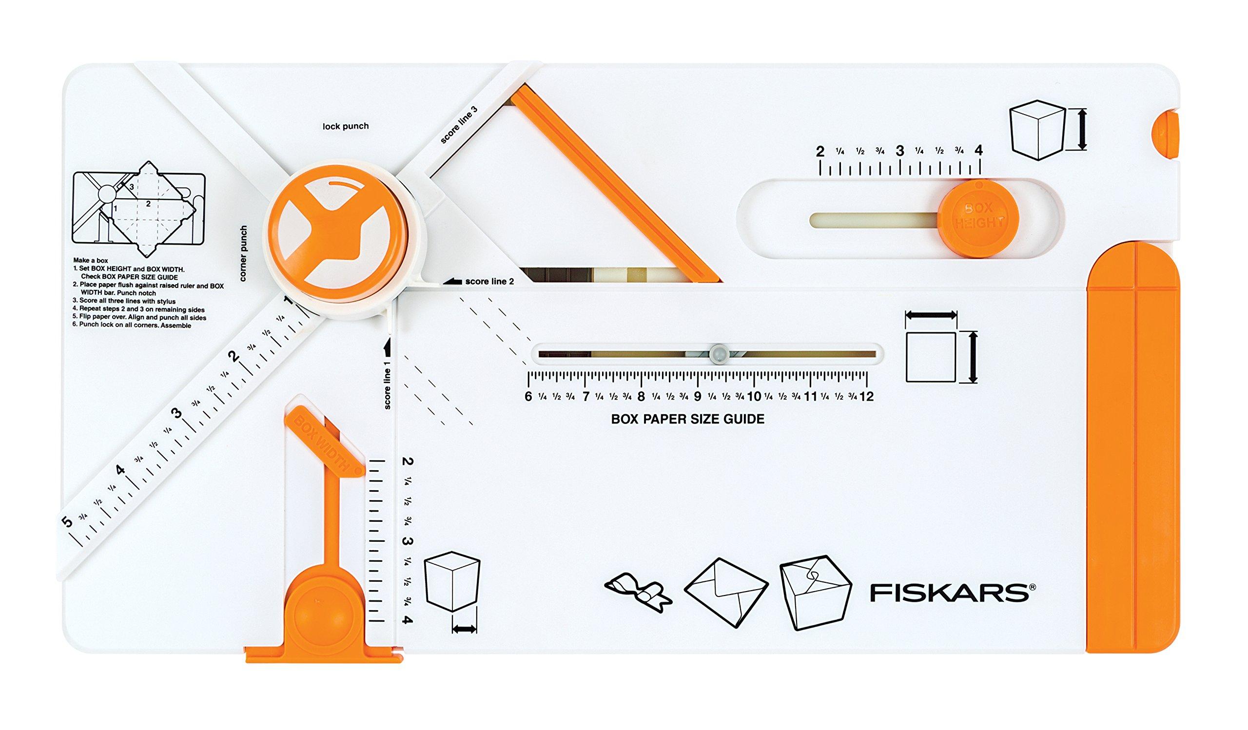 Fiskars 119310-1002 Gifting Board Box Scoring Maker, Orange/White