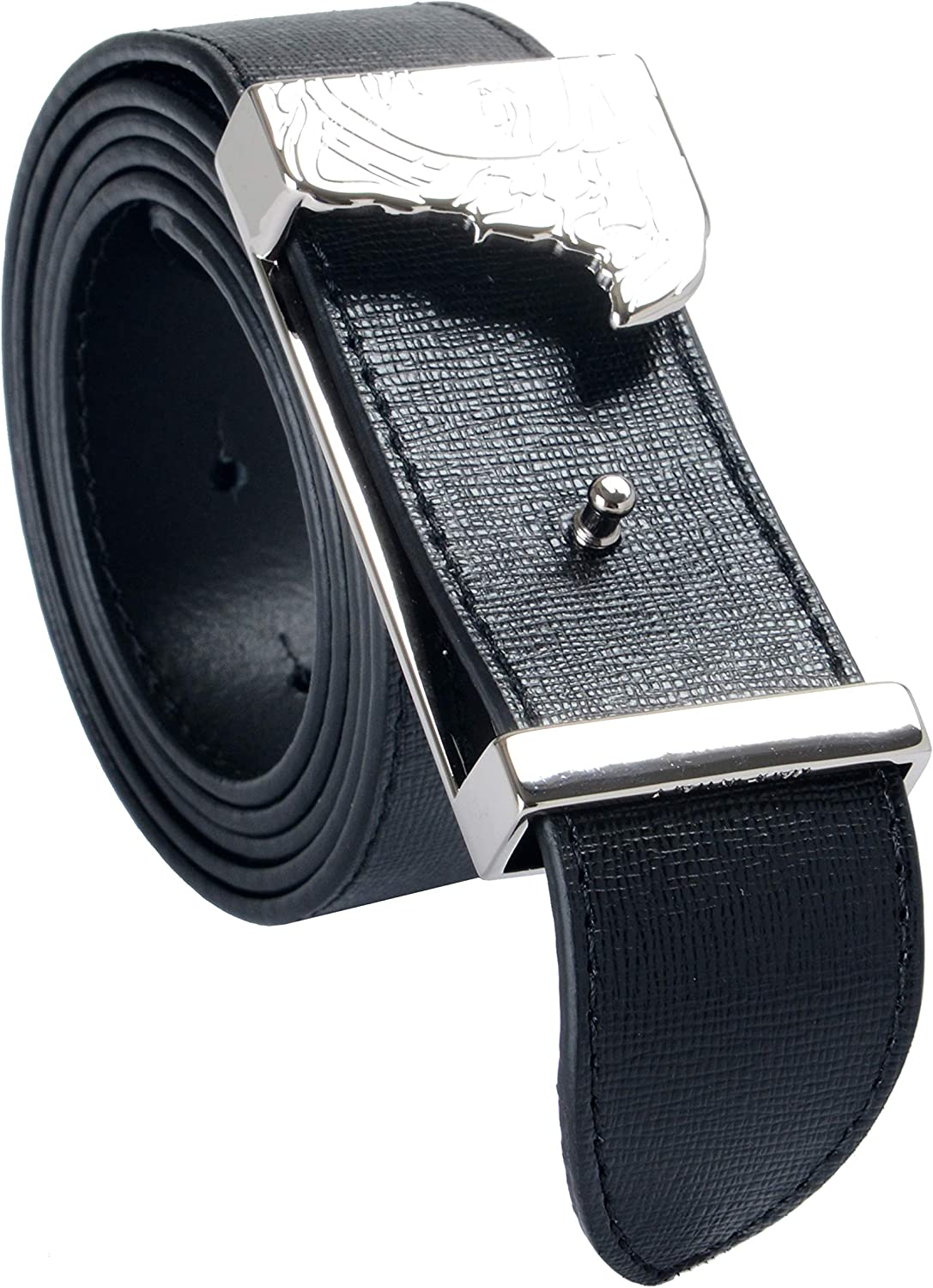 Versace Collection 100/% Leather Black Reversible Mens Belt Sz US 38 IT 95