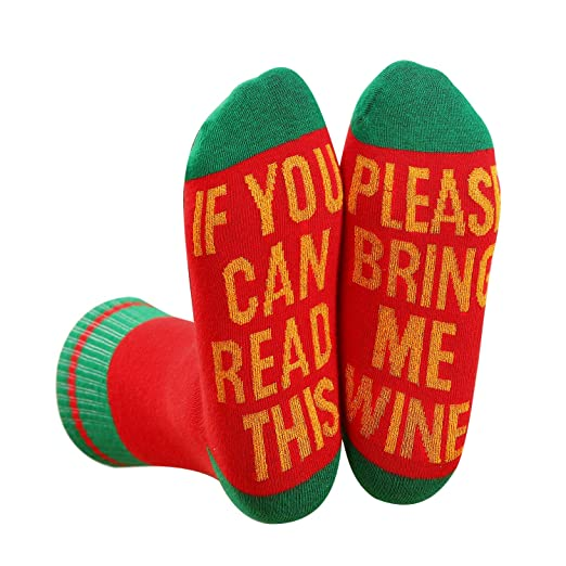Wine Socks Womens Funny If You Can Read This Christmas Gifts at ...