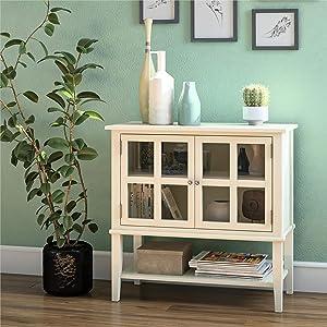 Ameriwood Home Franklin Storage Cabinet, Soft White