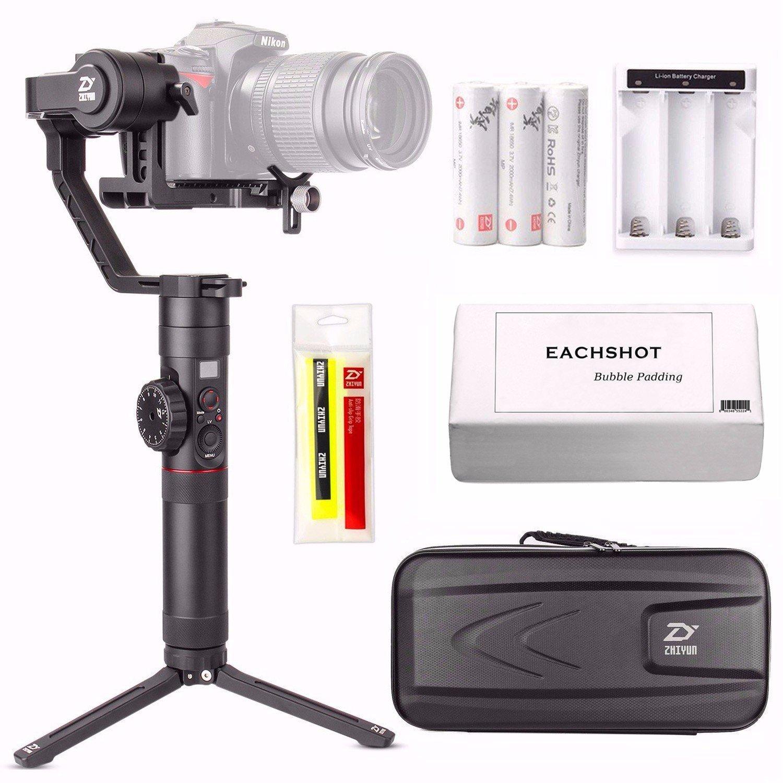 Zhiyun Crane 2 (Crane2) 3-Axis Handheld Gimbal Stabilizer w/ Follow Focus 7lb Payload OLED Display 18hrs Runtime Toolless Balance Adjustment for Camera Weighting 1.1lb to 7lb Zhiyun Crane-2 by zhi yun