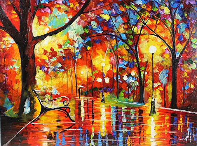 Amazoncom Colorful Night Is A One Of A Kind Original Oil Painting