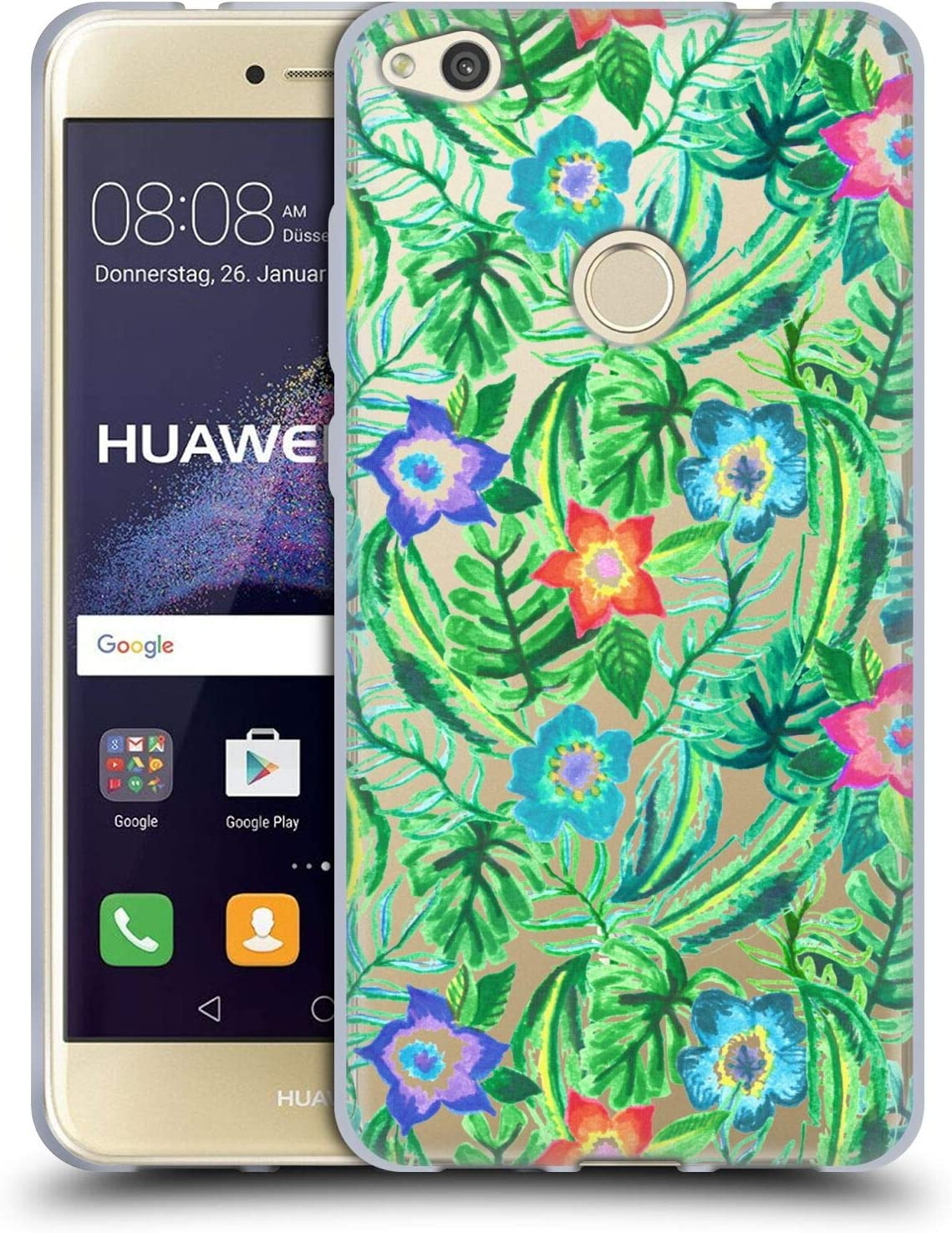 Head Case Designs Officially Licensed Tangerine-Tane Blooming Paradise Nature Art Soft Gel Case Compatible with Huawei P8 Lite (2017)