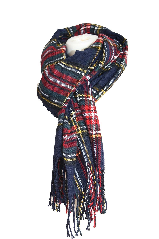 ... laine pour femme Motif tartan écossais carreaux Grande Châle Pashmina Écharpe  rouge bleu, Bleu, Length 220 x 78cm  Amazon.fr  Vêtements et accessoires 24330a11c24