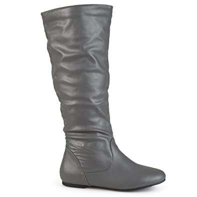 6972e78f7cd6 Brinley Co. Womens Regular Size and Wide-Calf Knee-High Slouch Microsuede  Boot