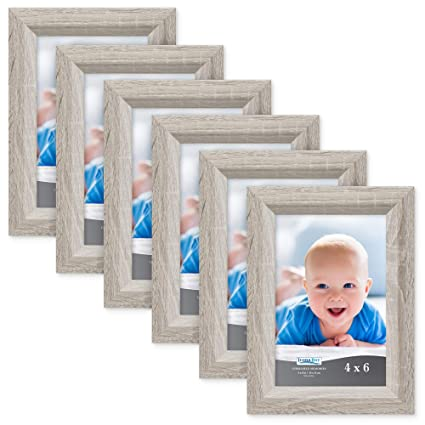 Icona Bay 4x6 Picture Frame 6 Pack Heritage Gray Wood Finish Gray Photo Frame 4 X 6 Composite Wood Frame For Walls Or Tables Set Of 6 Cherished