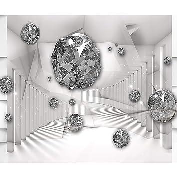 decomonkey Fototapete 3d Effekt Abstrakt 400x280 cm XL Design Tapete  Fototapeten Vlies Tapeten Wandtapete Vliestapete moderne Wandbild Wand ...