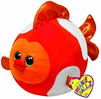 Ty - Peluche bola pez, 15 cm, rojo (United Labels 38038TY)