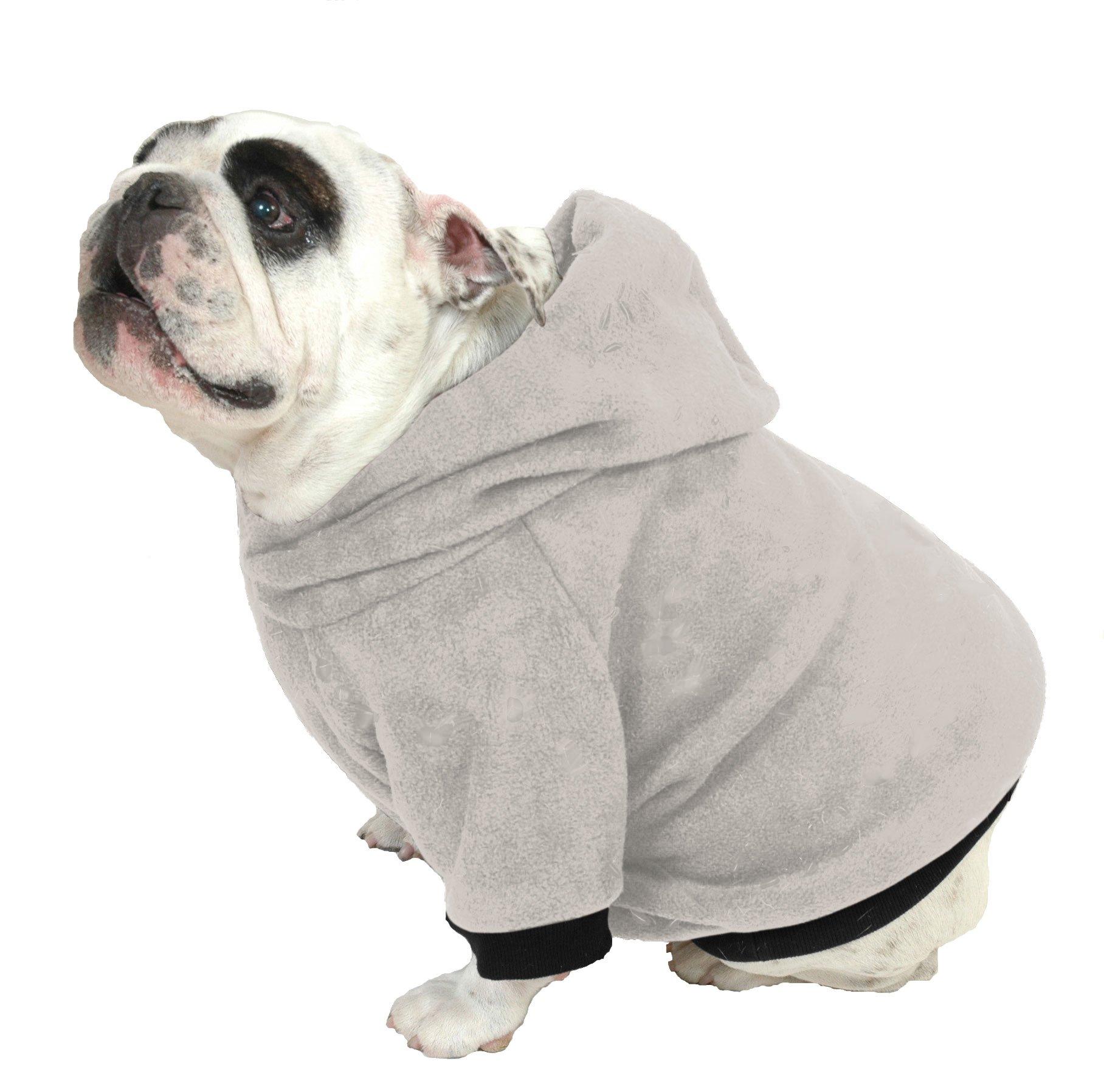 Plus Size Pups English Bulldog Dog Sweatshirt Beefy Heather, Grey