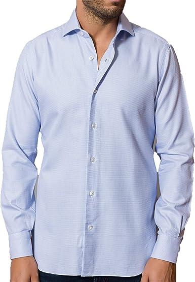 Barba Napoli - Hombre de la Camisa de Algodón de Mangas Largas K1U66H596602U: Amazon.es: Ropa y accesorios