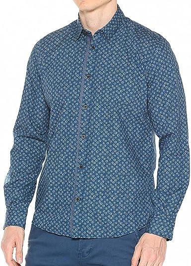 Tom Tailor Ray Multicolour Print Shirt-Camisa Hombre Azul Marino S: Amazon.es: Ropa y accesorios