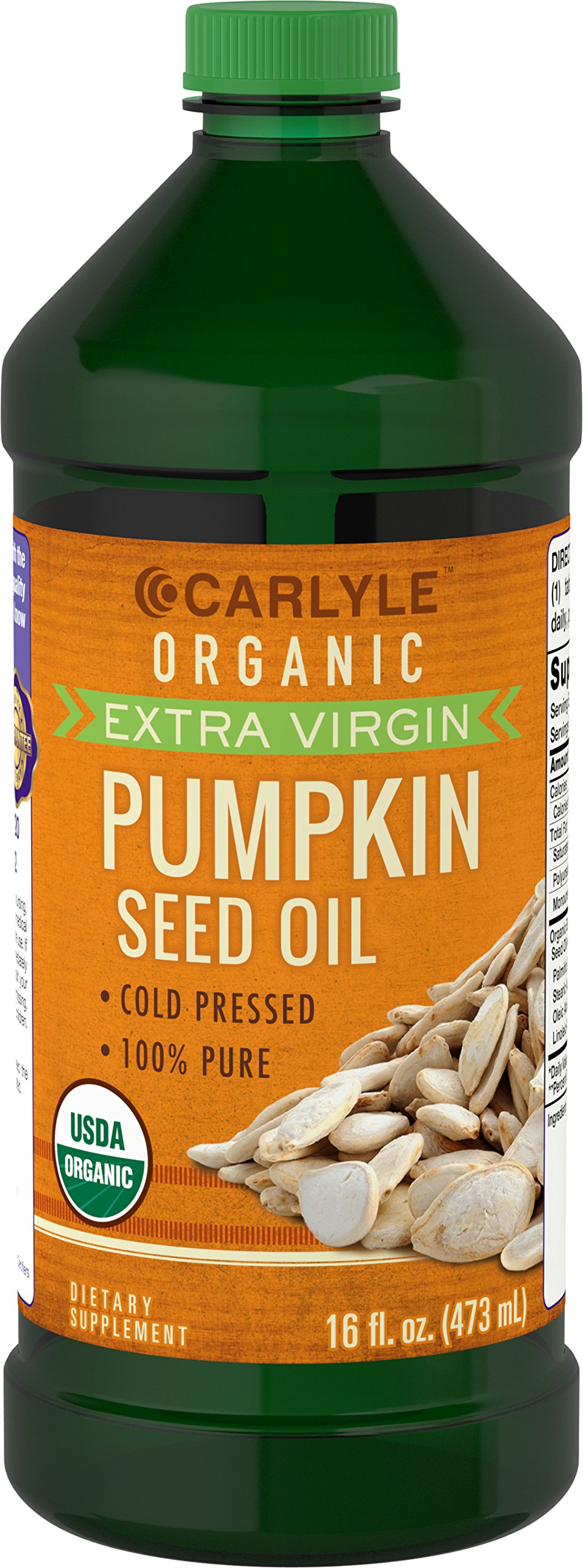 Carlyle Pumpkin Seed Oil 16oz Organic Cold Pressed