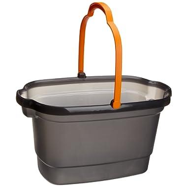 Casabella 4-Gallon Bucket Graphite and Orange