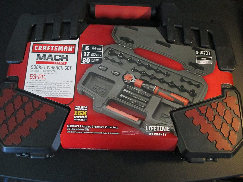 Amazon.com: Craftsman 53-piece Mach Series Tool Set, Includes Both ...