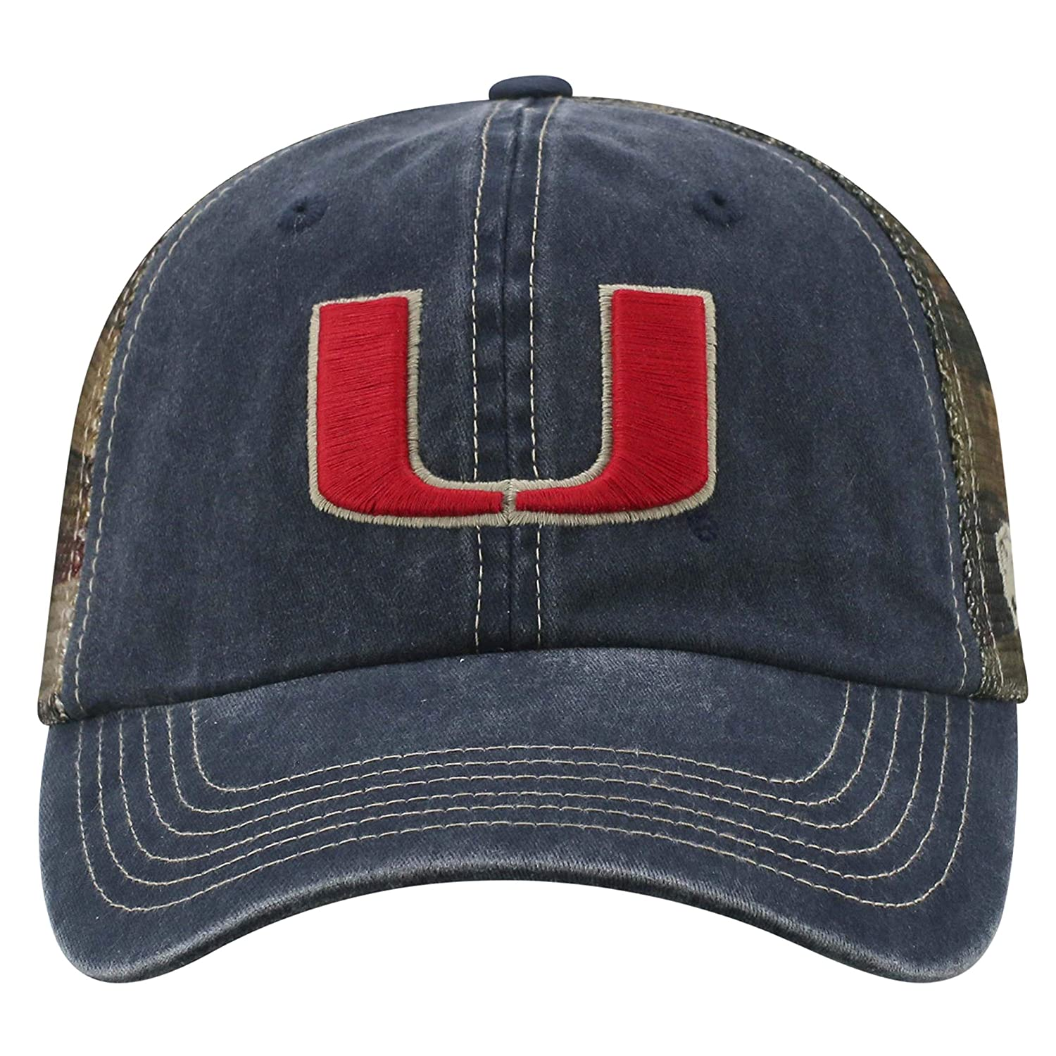 check out 9ea5e 8f89f Amazon.com  Top of the World NCAA Miami Hurricanes Flagtacular Mesh Hat  Blue Adjustable  Clothing