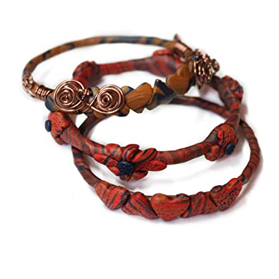 389953208dd6 Pulsera de cuentas multicolor con diseño de flores azules y rubíes para  regalo de San Valentín