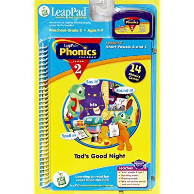 LeapPad Phonics Program Lesson 2: Short Vowels A and I: Tad's Good Night: Book and Cartridge: Toys & Games