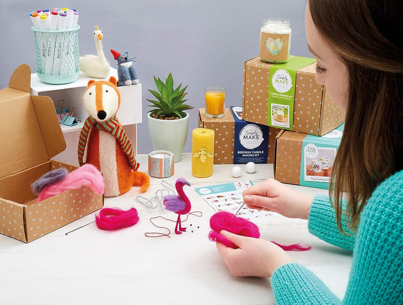 Docrafts Simply Make Gift Sewing Craft Kit Flamingos Needle Felting Kit