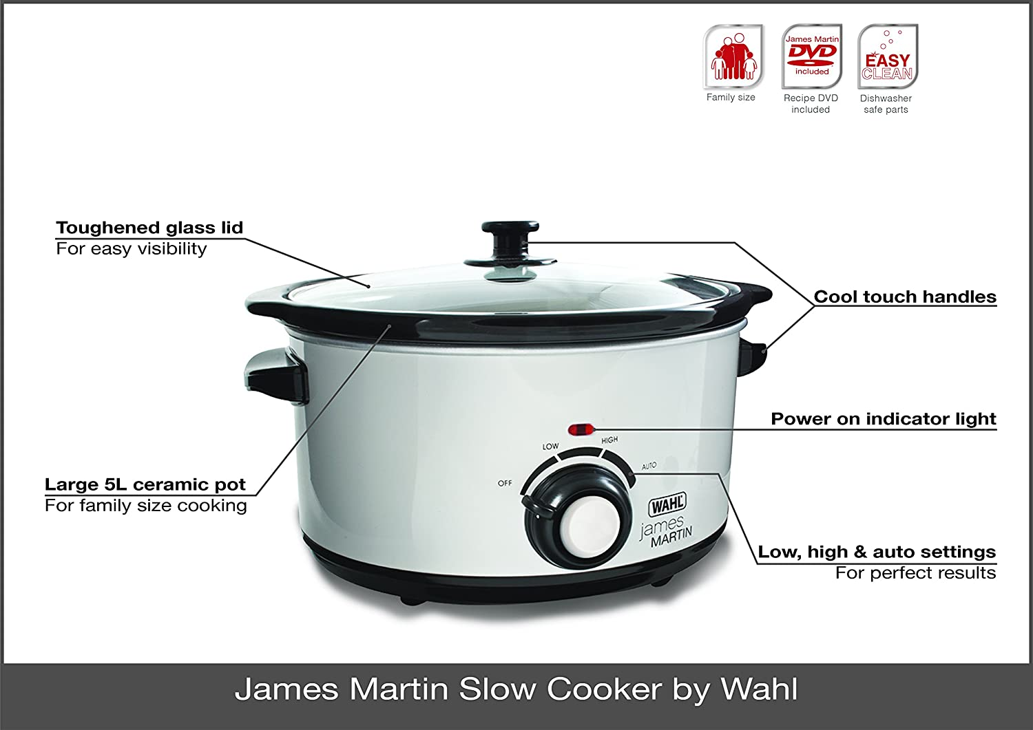 Uncategorized James Martin Kitchen Appliances amazon com wahl james martin by slow cooker 5 litre white black zx771 kitchen dining