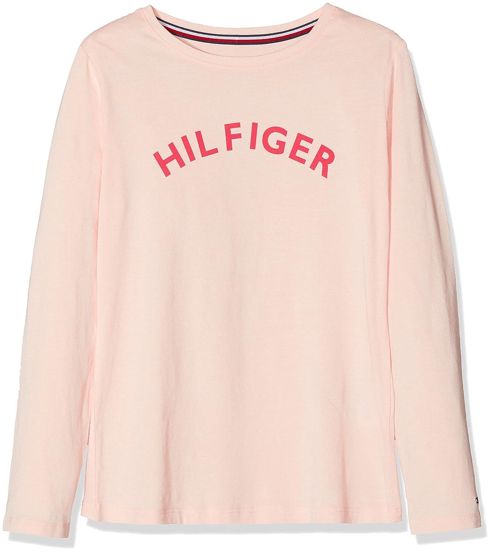 1bfdfe5f18de Tommy Hilfiger Girl s Ls Tee Logo Pyjama Top  Amazon.co.uk  Clothing
